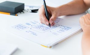 Start with a rough draft of your mobile app for your business